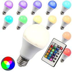 Żarówka LED RGB E27 10W + extra ciepło biała