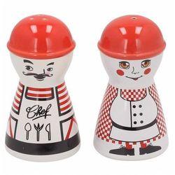 Zestaw solniczka i pieprzniczka ceramiczna DUO KUCHARZ - rabat 10 zł na pierwsze zakupy!