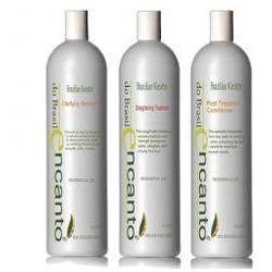 Encanto do Brasil Zestaw do keratynowego prostowania włosów 3 x 50 ml