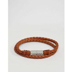 Diesel Alucy Faux Leather Wrap Bracelet - Brown