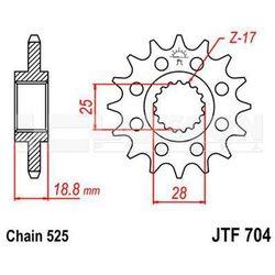 Zębatka przednia JT 50-2920-16, 16Z, rozmiar 525 2200912 Aprilia RSV 1000