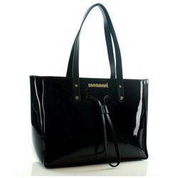 MONNARI Lakierowana torebka kuferek czarny