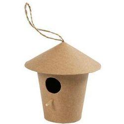 Domek dla ptaków z papieru mache duży - wzór I
