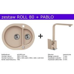 Zestaw ALVEUS ROLL 80 + PABLO (kolor BEŻOWY)