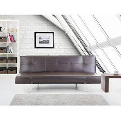 Rozkladana sofa kolor brazowy ruchome podlokietniki BRISTOL