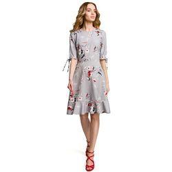 ceeca6cf82 suknie sukienki stylowa letnia sukienka w kolorowy desen z ...