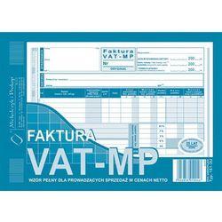 Faktura VAT-MP wzór pełny dla prowadzących sprzedaż w cenach netto A5 oryginał + kopia