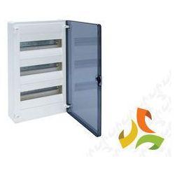 Rozdzielnica,rozdzielnia elektryczna 36 modułów natynkowa tworzywo, drzwi transparentne HAGER VS312TD