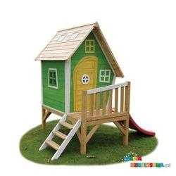 Domek ogrodowy dla dzieci EXIT Fantasia 300 zielony