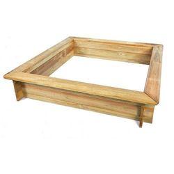 Drewniana piaskownica bez dna 1200 x 1200