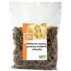 Makaron pszenny razowy świderki BIO z bazylią 300g