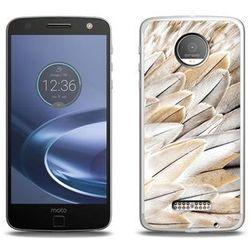 Foto Case - Lenovo Moto Z Force - etui na telefon Foto Case - białe pióra