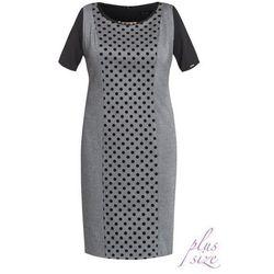 Elegancka sukienka w groszki