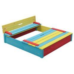 Swing King drewniana kolorowa piaskownica Darmowa wysy?ka i zwroty