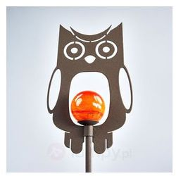 Metalowa dekoracyjna lampa solarna Sowa