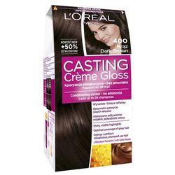 Loreal Paris Casting Creme Gloss Farba do włosów bez amoniaku Brąz nr 400