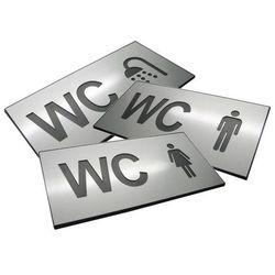 Piktogram, Symbol, Oznaczenie WC Dibond PODWÓJNE
