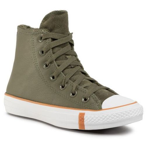 Trampki CONVERSE - Ctas Hi 166126C Field Surplus/White/Honey