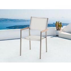 Meble ogrodowe biale - krzeslo ogrodowe - balkonowe - tarasowe - GROSSETO