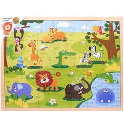 Układanka drewniana Safari Puzzle 35 elementów