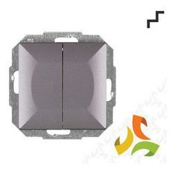 Wyłącznik, włącznik schodowy podwójny WP-2/5P, antracyt PERŁA metalik