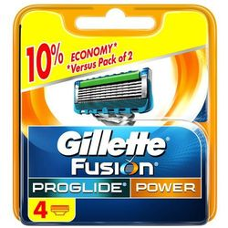 GILLETTE 4szt Fusion Pro Glide Power Wkłady do maszynki do golenia