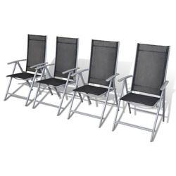 vidaXL Aluminiowe krzes?a ogrodowe x4 Darmowa wysy?ka i zwroty