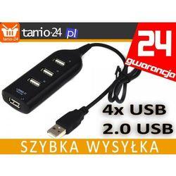 HUB 4 PORTY USB 2.0 Z KABLEM ROZDZIELACZ TRÓJNIK
