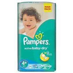 Pampers, Active Baby-Dry, Pieluszki jednorazowe, rozmiar 4+, Maxi+, 53 szt.