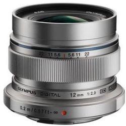 Karta kurier gratis OLYMPUS M. 12 mm F2 srebrny obiektyw mocowanie Micro 4/3
