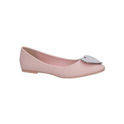 1e286030231f02 Baleriny Casu Różowe baleriny z sercem 7F-GH7134 5% zniżki z kodem  ZNIZKA19. Nie dotyczy produktów partnerskich ani produktów przecenionych.
