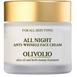 Olivolio Przeciwzmarszczkowy krem do twarzy na noc z oliwą i peptydami 50ml