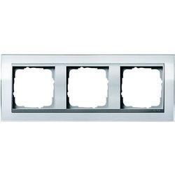 Ramka potrójna aluminiowy Gira Event Clear biały