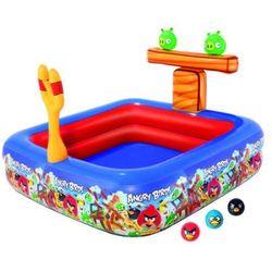 Bestway, Angry Birds, basen dmuchany z katapultą, 147x147x91 cm Darmowa dostawa do sklepów SMYK