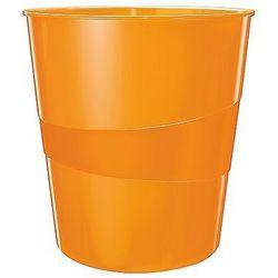 Kosz na śmieci 15L Leitz WOW pomarańczowy metalik 52781044