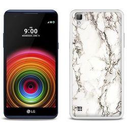 Fantastic Case - LG X Power - etui na telefon Fantastic Case - biały marmur