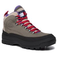 Kozaki TOMMY JEANS - Hilfiger Expedition Mens Boot EM0EM00301 Dusty Olive LDY