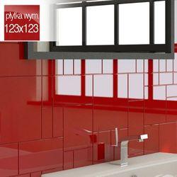Płytki Czerwone Kafelki COMPONER Mozaika Szklana 123x123mm