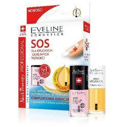 Eveline Nail Therapy Zestaw (Lakier odżywka SOS 5ml + Olejek do skórek i paznokci arganowy 5ml )