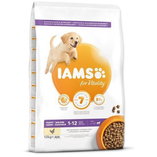 IAMS sucha karma Dog Puppy Large Chicken 12 kg