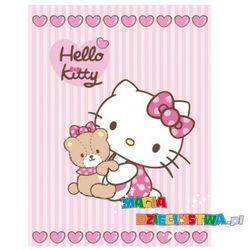 Kocyk akrylowy dla dziewczyniki Hello Kitty + GRATIS