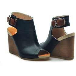 Sandały Ryłko 9HGZ8K_NX3F Czarny/Brązowy licowe
