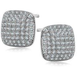 Scarlett - srebrne kolczyki z cyrkoniami