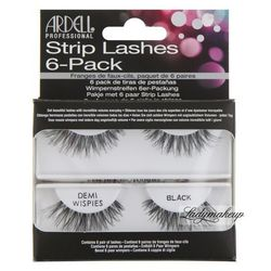 ARDELL - Strip Lashes 6-Pack - Zestaw 6 par rzęs DEMI WISPIES - 240578