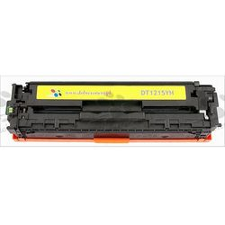 Toner zamiennik DT1215YH do HP Color LaserJet CP1210 CP1215 CP1215n CP1217 CP1510 CP1510j CP1510n CP1515 CP1515n CP1518 CP1518ni CM1312 CM1312mfp, pasuje zamiast HP CB542A 125A Yellow, 1400 stron