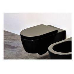 Miska Flaminia Link 36x56 cm, wisząca, czarna 5051/WC czarna