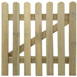 Drewniana furtka ogrodowa 100 x 100 cm Zapisz się do naszego Newslettera i odbierz voucher 20 PLN na zakupy w VidaXL!