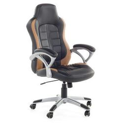 Krzeslo biurowe czarno-jasnobrazowe - obrotowe - dla graczy - PRINCE