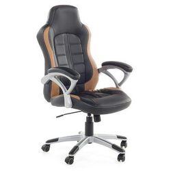 Krzesło biurowe czarno-jasnobrązowe - obrotowe - dla graczy - PRINCE