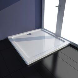 vidaXL Kwadratowy brodzik prysznicowy ABS biały 80 x cm Darmowa wysyłka i zwroty